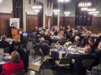 Director of LCMS Church Relations Rev. Dr. Albert B. Collver III addresses the 43rd annual Concordia Historical Institute awards banquet Nov. 9 at Concordia Seminary, St. Louis. (Rev. Todd D. Zittlow)