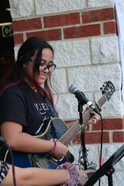 "Freshmen Yeiny Alvarez and Jedi Ragas perform ""Chasing Pavements"" by Adele, followed by ""Little Do You Know"" by Alex & Sierra."