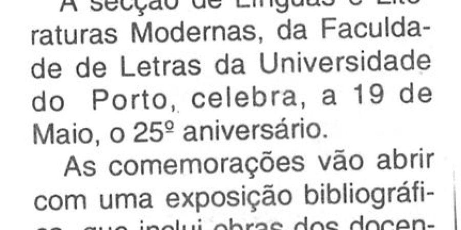 """(409) """"Aniversário em 'Letras' na Universidade do Porto"""" - 1995 04 30 CManha ...-30r"""