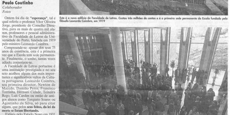 "(404) ""Faculdade de Letras: casa nova e permanente"" - 1995 06 05 JNoticias ...-940r"