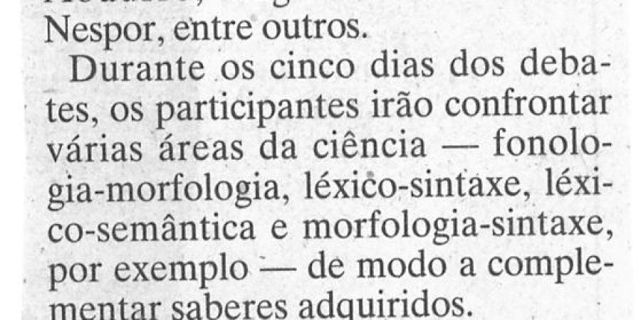 """(385) """"Linguística em congresso"""" - 1995 11 14 JNoticias ...-110r"""