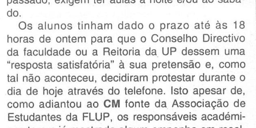 """(381) """"Estudantes protestam por telefone"""" - 1995 11 30 CManha ...-90r"""