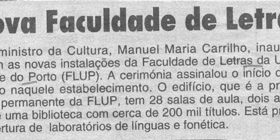 """(377) """"Nova Faculdade de Letras"""" - 1995 12 05 CManha ...-30r"""