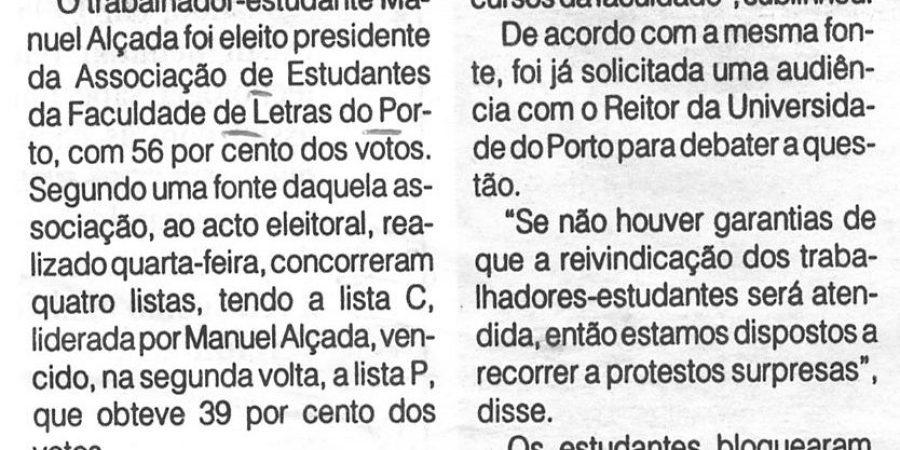 """(347) """"Associação de Letras tem novo presidente"""" - 1996 02 18 1ºJaneiro ...-90r"""