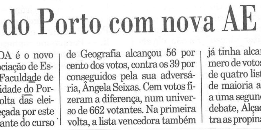 """(346) """"Letras do Porto com nova AE"""" - com 1996 02 18 Publico ...-50r"""
