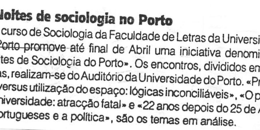 """(343) """"Noites de sociologia no Porto"""" - 1996 04 11 1ºJaneiro ...-30r"""