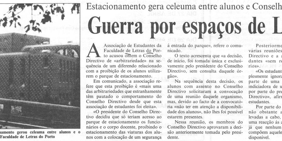 "(337) ""Guerra por espaços de Letras"" - 1996 04 23 CPorto ...270r"
