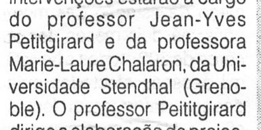 """(312) """"Francês é tema de debate na Faculdade de Letras"""" - 1996 10 07 ODia ...-70r"""