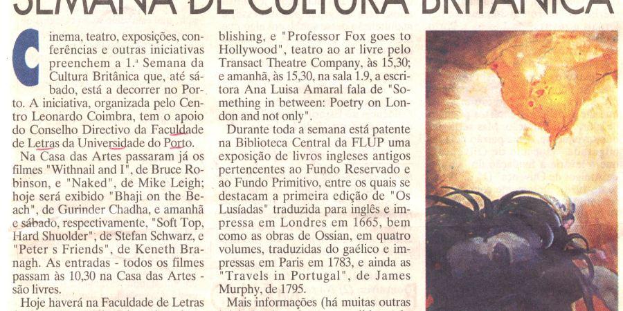 """(282) """"Semana de cultura britânica"""" - 1996 10 24 JNoticias ...-190r"""