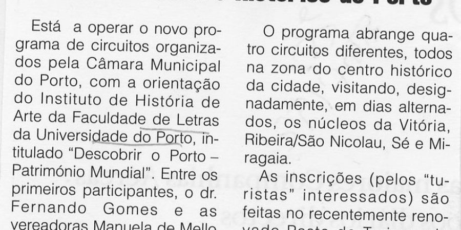 """(262) """"Circuitos no centro histórico do Porto"""" - 1997 06 15 Publituris ...-50r"""
