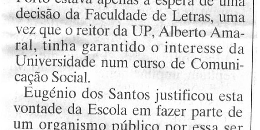 """(237) """"Letras diz 'sim' ao Jornalismo"""" - 1997 11 13 JNoticias ...-150r"""