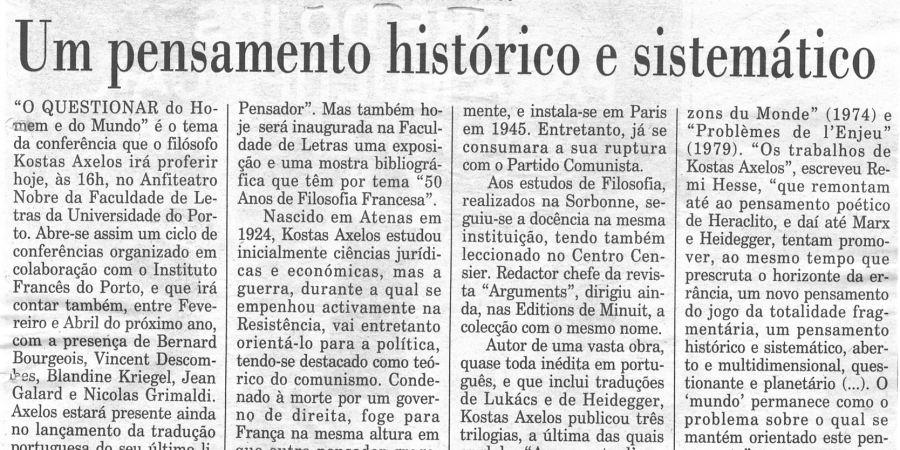 """(233) """"Um pensamento histórico e sistemático"""" - 1997 12 03 Publico ...-180r"""