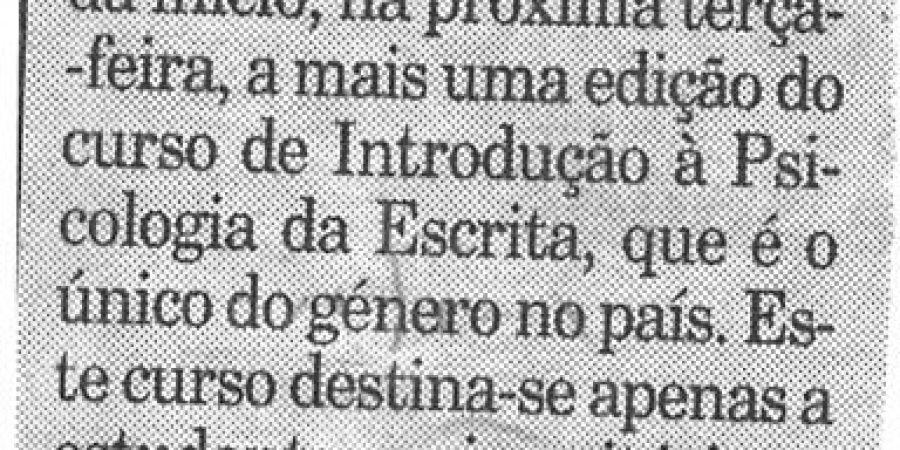 """(226) """"Letras do Porto dá curso"""" - 1998 03 05 Publico ...-30r"""