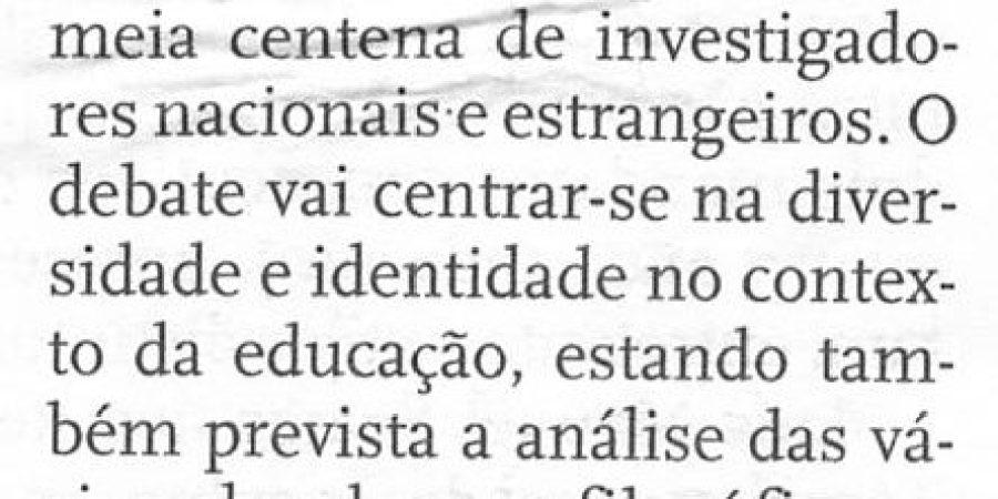 """(216) """"Porto debate filosofia da educação"""" - 1998 05 05 DNoticias ...-50r"""