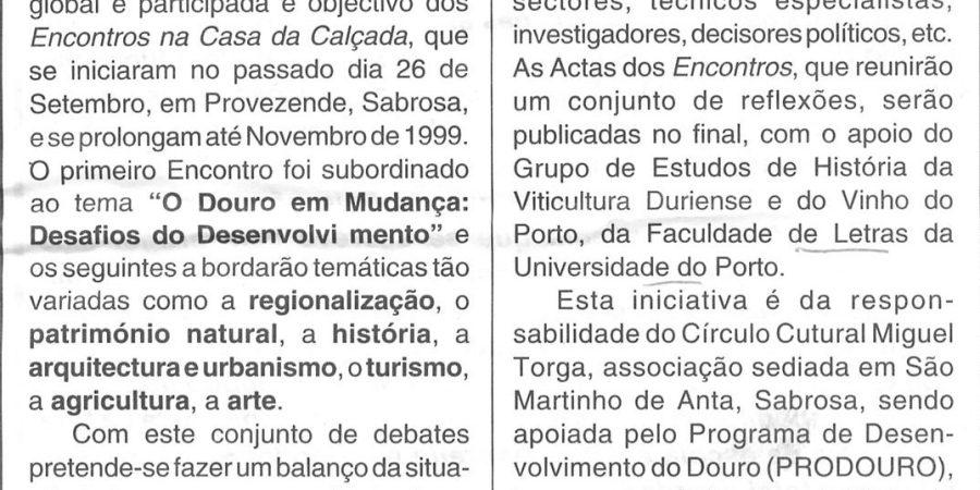 """(200) """"O Douro em debate no virar do século"""" - 1998 10 02 MensageiroBraga ...-150r"""