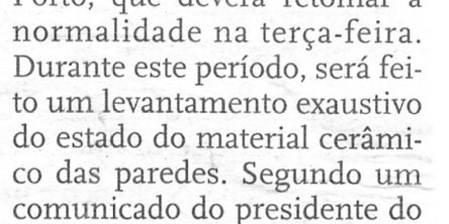 "(174) ""Queda de painel encerra Faculdade de Letras do Porto"" - 1998 12 12 DNoticias ...-40r"