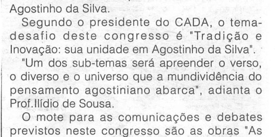 """(159) """"Congresso luso-brasileiro debate Agostinho da Silva"""" - 1999 02 14 CManha ...-120r"""