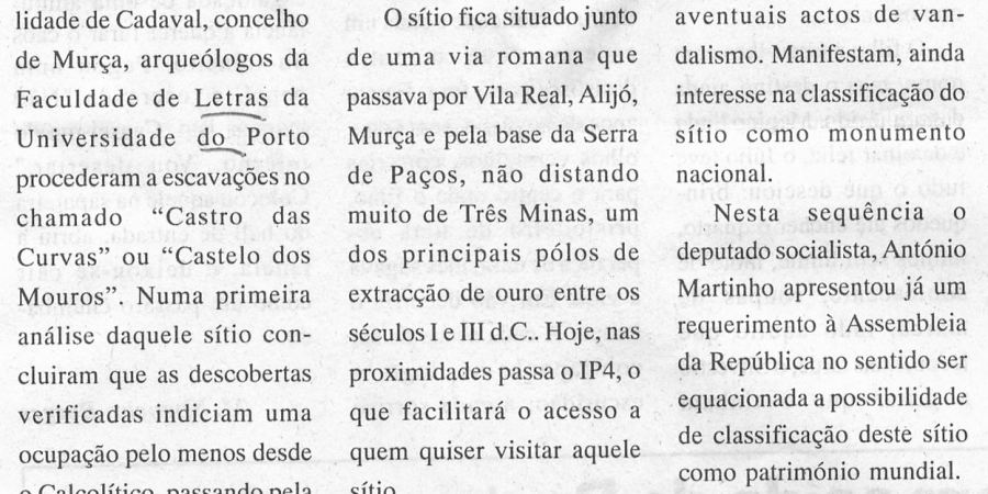 "(157) ""Castro das Curvas a Património Mundial"" - 1999 02 25 O Annais ...-220r"