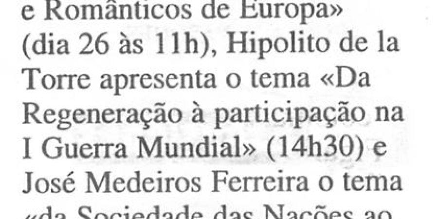 """(145) """"História hoje"""" - 1999 04 10 Expresso ...-70r"""