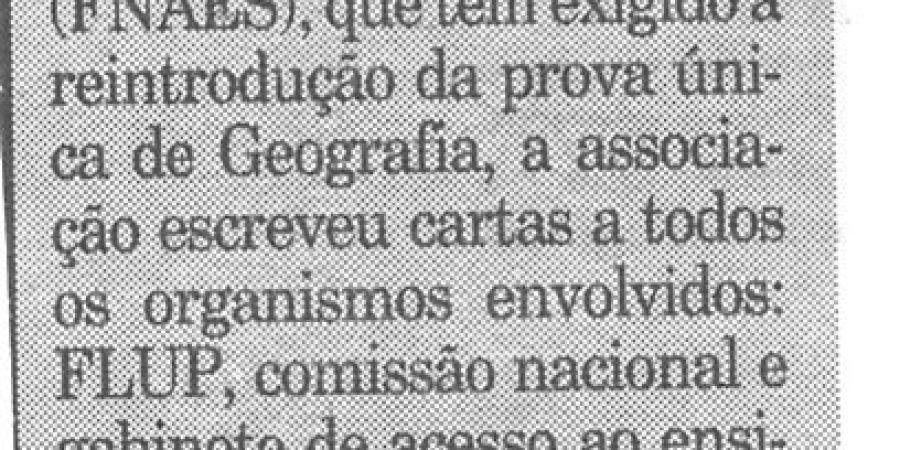 """(143) """"Associação de Geografia com FNAES"""" - 1999 04 16 Publico ...-90r"""