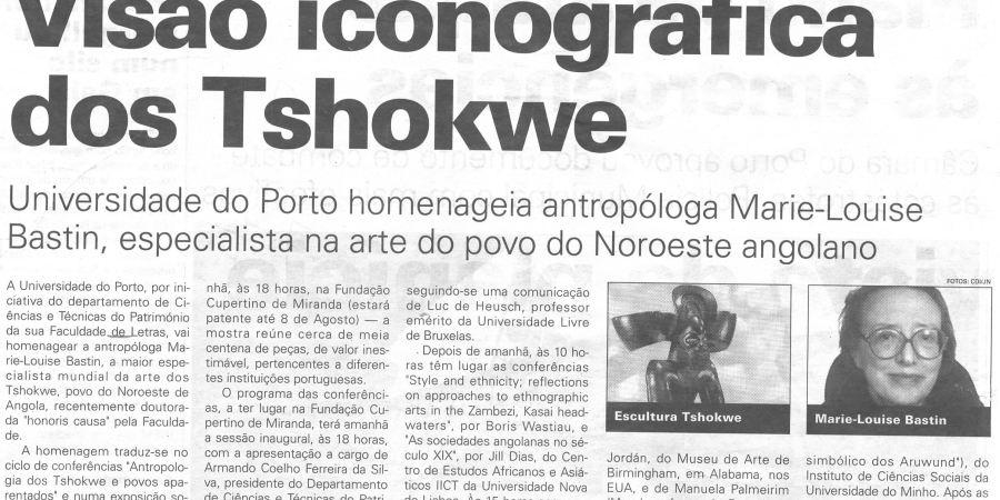 "(139) ""Visão iconográfica dos Tshokwe"" - 1999 07 07 JNoticias ...-370r"