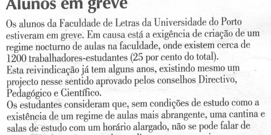 """(98) """"Alunos em greve"""" - 2000 03 02 Avante 10-50r"""