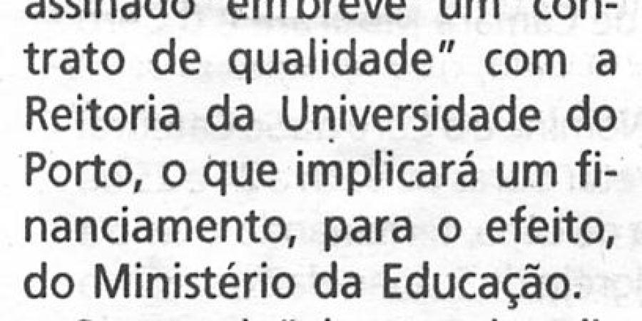 """(86) """"José Reis apoia regime nocturno em Letras"""" - 2000 03 10 1ºJaneiro 08-140r"""