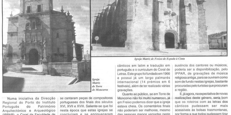 "(66) ""Coral de Letras (En)Cantou em Moncorvo e Freixo"" - 2000 10 06 MensagBragança 04-810r"