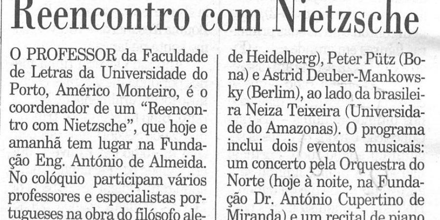 """(65) """"Reencontro com Nietzsche"""" - 2000 10 12 Publico 37-60r"""