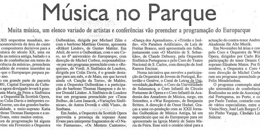"""(19) """"Música no Parque"""" - 2000 12 16 Expresso 06-200r"""