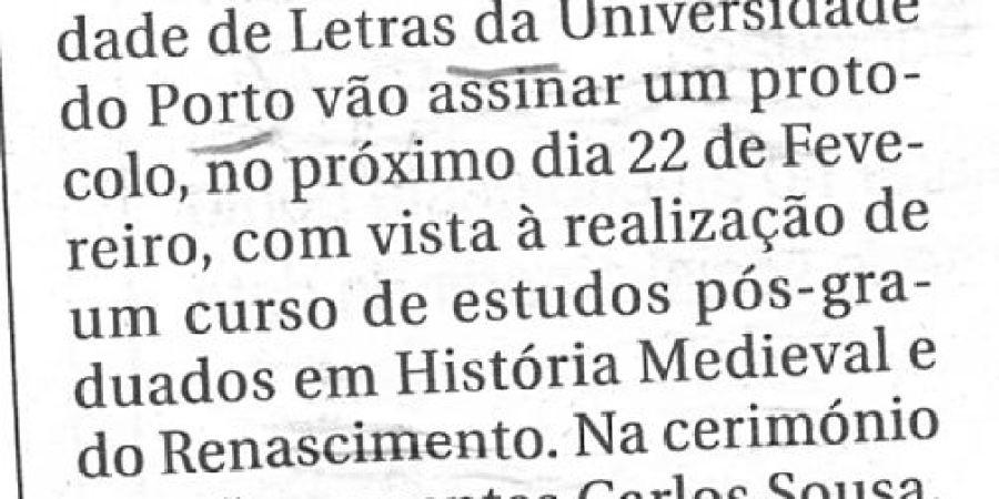 """(7) """"Pós-graduação em História Medieval"""" - 2001 02 17 Capital 08-40r"""