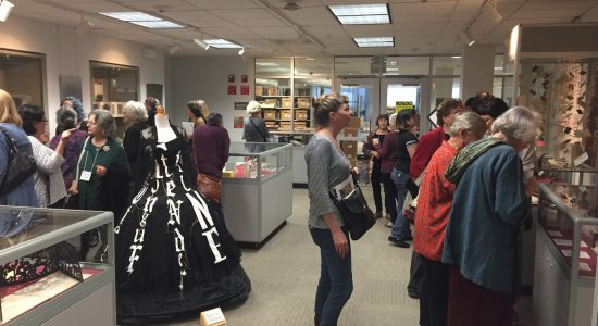 The Book Arts exhibit was a huge hit! Credit: Michael Joseph.