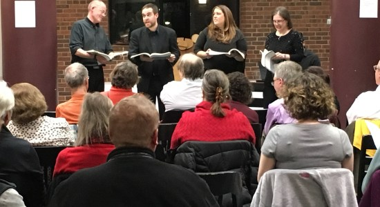 Hub City Opera and Dance Company performs a rendition of Carl Orff's opera Der Mond at the Art Library. Photo credit: Megan Lotts.