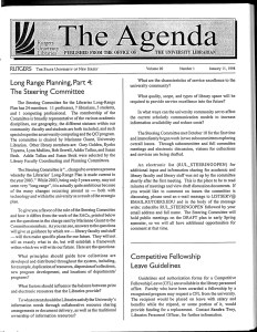 The January 11, 1998 edition of the Agenda.