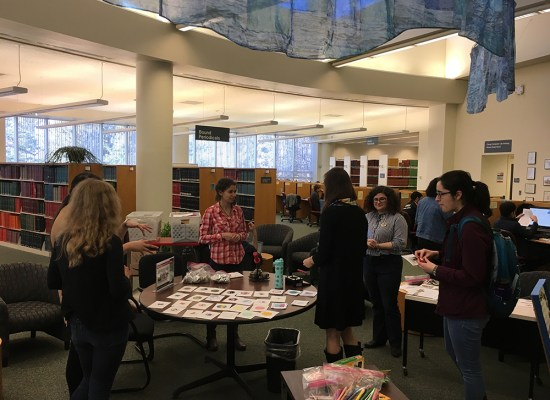 button making event at Chang Library