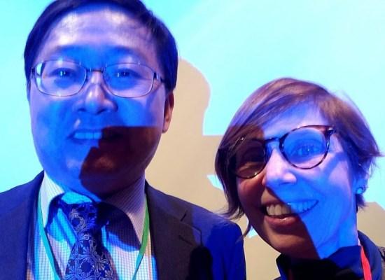 Photo of Vibiana Cvetkovich and Jaehwan Han.