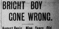 newspaper clipping of Bright Boy Gone Wrong
