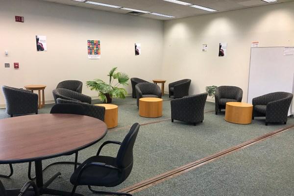 New modular furniture has been installed at the Chang Library. Credit: Judit Ward.