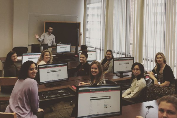 Middlesex students at RWJ