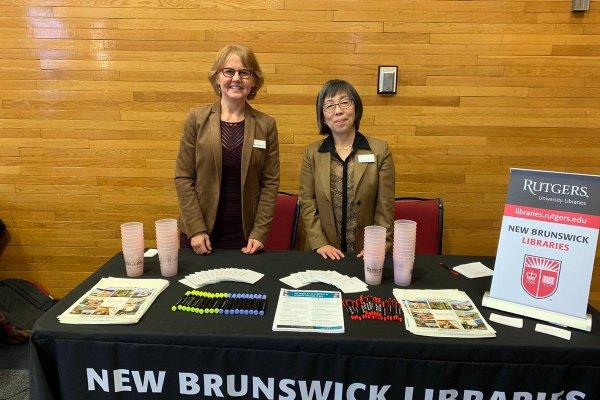 Librarians at career fair