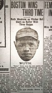1918 World Series update featuring Babe Ruth