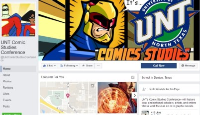 Facebook page for the UNT Comics Studies Conference