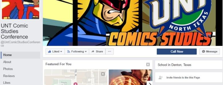 UNT Comics Studies Conference Facebook Page