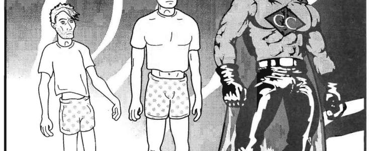 Captain Condom's Transformation. DPN #2,1991