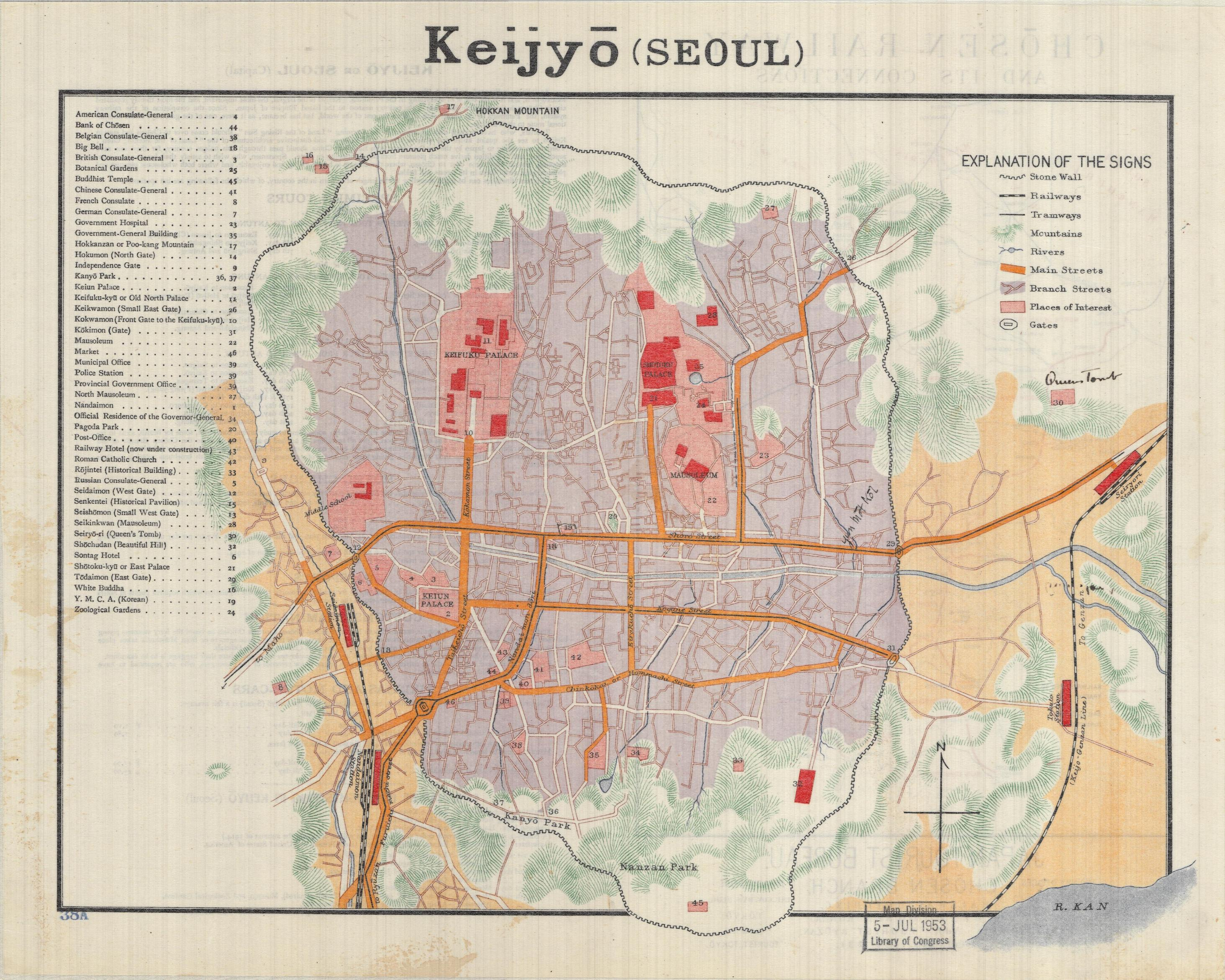 Maps Of Seoul South Korea Under Japanese Occupation