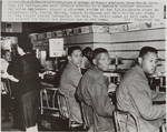 Students at the Woolworth's lunch counter on the second day of the sit-in, Greensboro, North Carolina