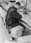 One-man demonstration at a closed lunch counter in Nashville