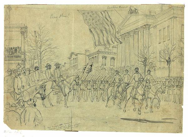 Sherman reviewing his army in Savannah