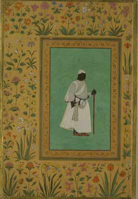Malik Ambar (1549-1626), born in Harar, Ethiopia, was sold as a child into slavery and became one of the most celebrated rulers in the Deccan region of India. Courtesy of the Victoria and Albert Museum