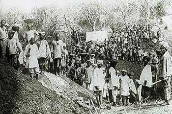 Workers on the Uganda railway line Photo credit: Sikh Heritage in East Africa